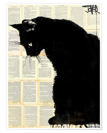 Poster  Black cat - Loui Jover