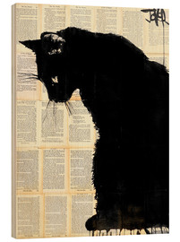 Holzbild  Black cat - Loui Jover
