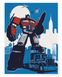 Premium-Poster  alternative optimus prime retro transformers art - 2ToastDesign