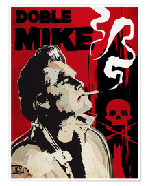 Premium-Poster  alternative doble mike death proof art - 2ToastDesign