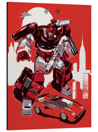 Alubild  alternative sideswipe retro transformers art - 2ToastDesign