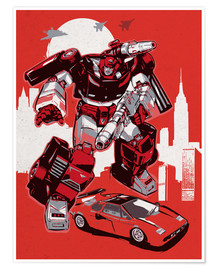 Premium-Poster  alternative sideswipe retro transformers art - 2ToastDesign
