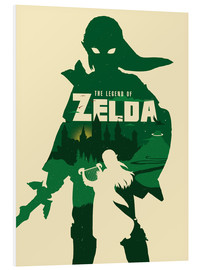 Hartschaumbild  The Legend of Zelda - Golden Planet Prints