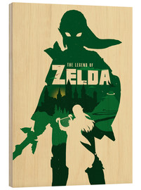 Holzbild  The Legend of Zelda - Golden Planet Prints