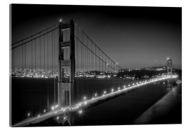 Acrylglasbild  GOLDEN GATE BRIDGE am Abend - Melanie Viola
