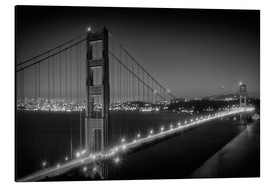 Alubild  GOLDEN GATE BRIDGE am Abend - Melanie Viola