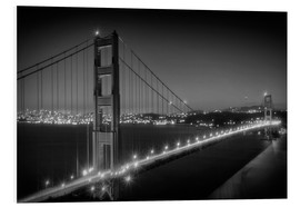 Forex  GOLDEN GATE BRIDGE am Abend - Melanie Viola