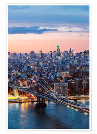 Poster Manhattan Bridge und Skyline