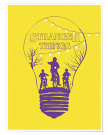 Premium-Poster Stranger Things, gelb