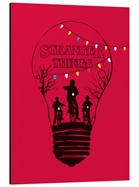 Alubild  Stranger Things, rot - Golden Planet Prints