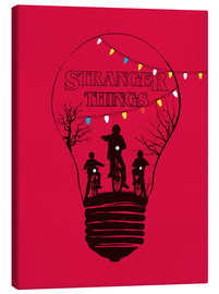Leinwandbild  Alternative Stranger Things red version art - Golden Planet Prints