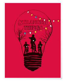 Premium-Poster  Stranger Things, rot - Golden Planet Prints