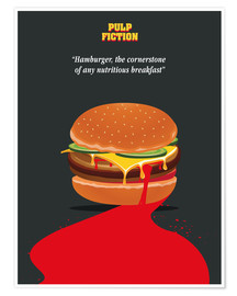 Premium-Poster  Burger, Pulp Fiction (Englisch) - Golden Planet Prints