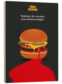 Holzbild  Burger, Pulp Fiction (Englisch) - Golden Planet Prints