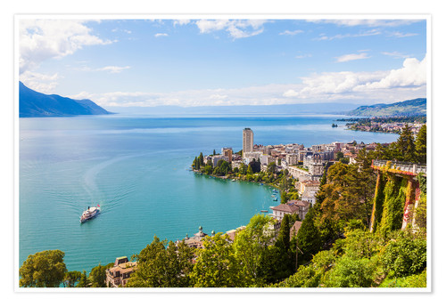 Premium-Poster Montreux am Genfer See