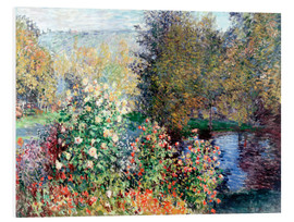 Hartschaumbild  Stiller Winkel - Claude Monet