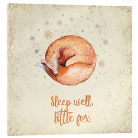 Acrylglas  Sleep well little fox - UtArt