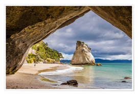 Premium-Poster Cathedral Cove