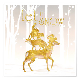 Premium-Poster Let It Snow