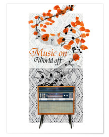 Poster  Music On - Mandy Reinmuth