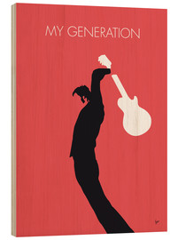 Holzbild  No002 MY THE WHO Minimal Music poster - chungkong