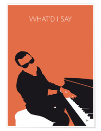 Premium-Poster Ray Charles - What'd I Say
