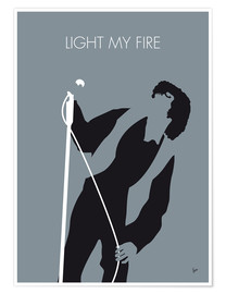 Premium-Poster Jim Morrison - Light My Fire