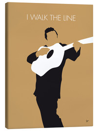 Leinwandbild  No010 MY Johnny Cash Minimal Music poster - chungkong