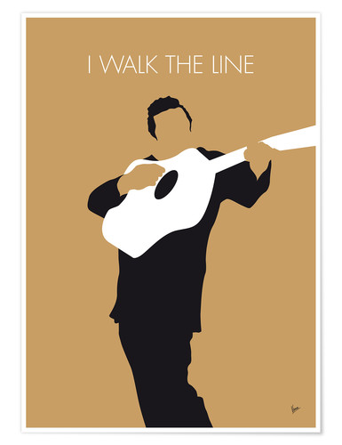 Premium-Poster No010 MY Johnny Cash Minimal Music poster