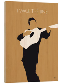 Holzbild  No010 MY Johnny Cash Minimal Music poster - chungkong
