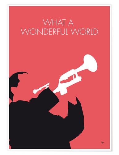 Premium-Poster Louis Armstrong - What A Wonderful World