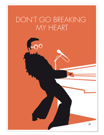 Premium-Poster Elton John - Don't Go Breaking My Heart