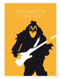 Premium-Poster Kiss - I Was Made For Lovin' You
