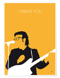 Premium-Poster Elvis Costello - I Want You
