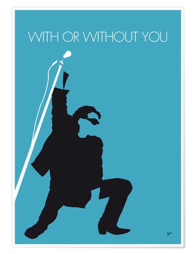 Premium-Poster U2 - With Or Without You