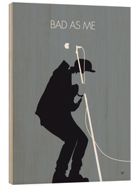 Holzbild  No037 MY TOM WAITS Minimal Music poster - chungkong