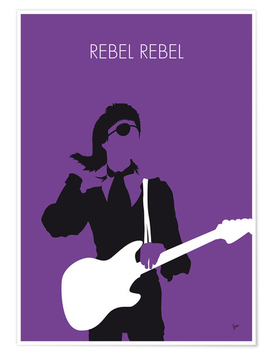 Premium-Poster No031 MY BOWIE Minimal Music poster