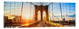 Acrylglasbild  Brooklyn Bridge in New York City, USA - Jan Christopher Becke