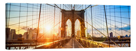 Leinwandbild  Brooklyn Bridge in New York City, USA - Jan Christopher Becke