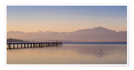 Premium-Poster Morgen am Chiemsee