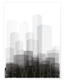 Premium-Poster New York City Silhouette