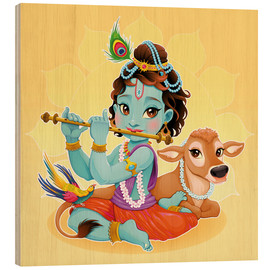Holzbild  Baby Krishna - Kidz Collection