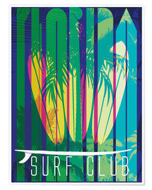 Premium-Poster  Surf-Club Florida