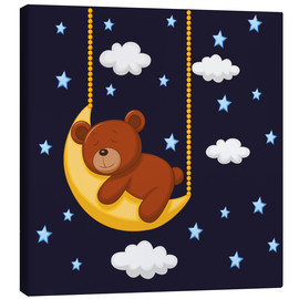 Leinwandbild  Gute Nacht Teddy - Kidz Collection