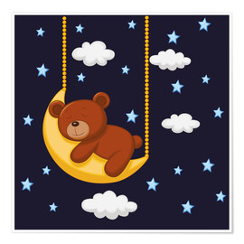 Premium-Poster  Gute Nacht Teddy - Kidz Collection