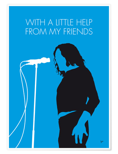 Premium-Poster Joe Cocker - With A Little Help From My Friends