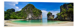 Hartschaumbild  thailand hong island beach Panoramic - Vincent Xeridat