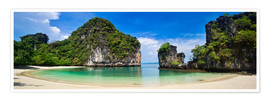 Poster  thailand hong island beach Panoramic - Vincent Xeridat
