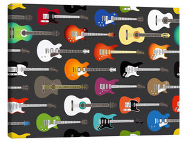 Leinwandbild  Gitarren-Muster - Kidz Collection