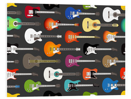 Hartschaumbild  Gitarren-Muster - Kidz Collection